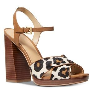 Michael Kors Alexia Platform Sandals Leopard Print
